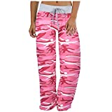 AODONG Quealent Pajama Bottoms Women Soft Pajama Pants for Women Cotton Print Sleep Pants Lightweight Lounge Sleep Pj Bottoms Pink