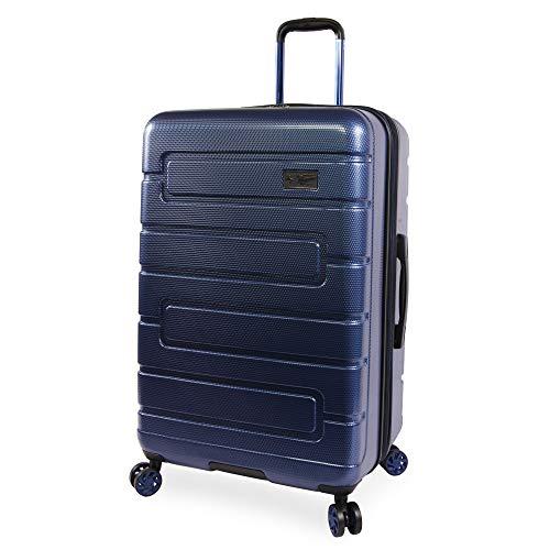 ORIGINAL PENGUIN Luggage Crimson 29' Hardside Check in Spinner, Metallic Blue, One Size