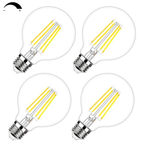 G25 LED Edison Dimmable Globe Light Bulbs 100W Equivalent 1200LM