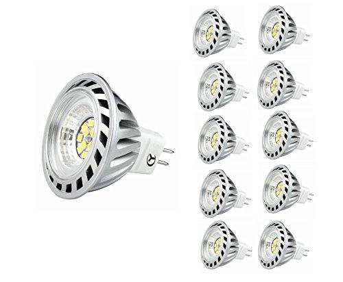 Xpeoo® 10 Stück 6W LED MR16 Gu5,3 Kaltweiß Ersetzt 50W Halogen, Leuchte Birne Licht Rampenlicht Tageslicht Einbauleuchten 40 Abstrahlwinkel Lampen Smd Leuchtmittel Light 12V