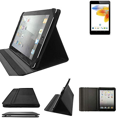 K-S-Trade® Odys Connect 7 Schutz Hülle Business Case Tablet Schutzhülle Flip Cover Ultra Slim Bookstyle Tasche Für Odys Connect 7, Schwarz. Kunstleder Qualitätsware