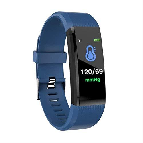 hwbq Pulsera de salud con frecuencia cardíaca, presión arterial, pulsera inteligente para reloj inteligente como se muestra en color azul