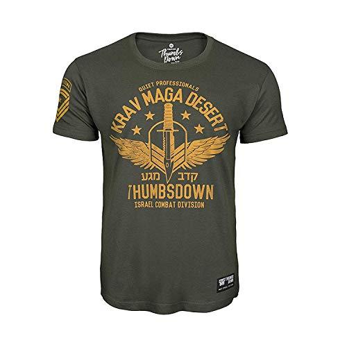 Thumbsdown PULGARES Down Krav Maga Desierto Camiseta Quiet professionals. MMA. Gimnasio entrenamiento....