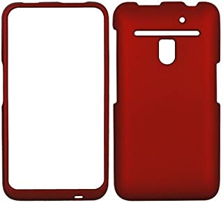 GTMax Rubberized Hard Snap On Cover Case - Red for Verizon LG Revolution 4G VS910