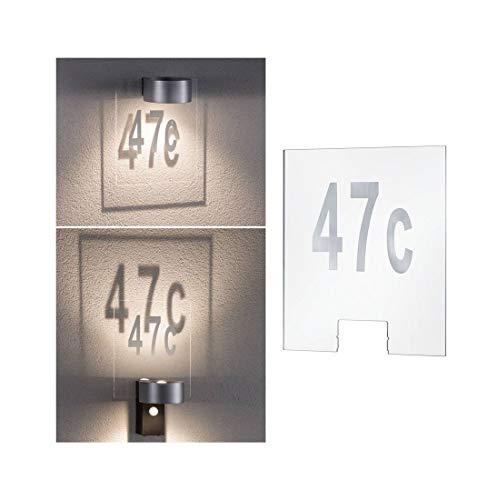 Paulmann 796.74 Outdoor House Cone Hausnummer Kunststoff 79674 Aussenleuchten Zubehör Hausnummernleuchte Housenumber