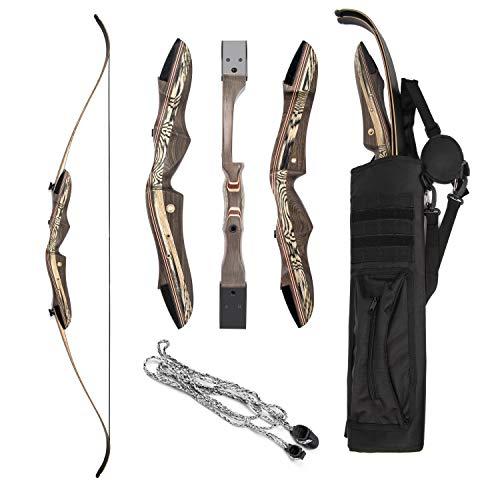 """JEKOSEN 2019 Eagle Eye Wooden Takedown Archery Recurve Bow 62"""""""