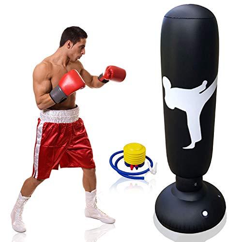 Columna boxeo hinchable pie entrenamiento fitness