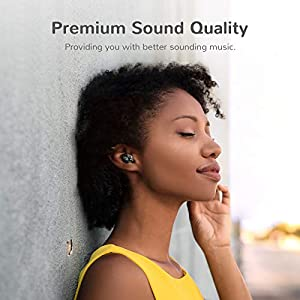 Wireless Earbuds, Letsfit IPX6 Waterproof, 80H Playtime with Wireless Charging Case, Bluetooth 5.0 Headphones Deep Bass Stereo Earphones in-Ear Built-in Mic for Sports