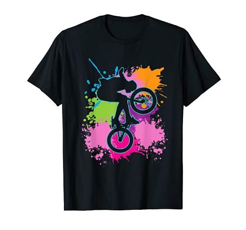 BMX Farbklecks Fahrrad Fahrradfahrer Radler Sport BMX T-Shirt