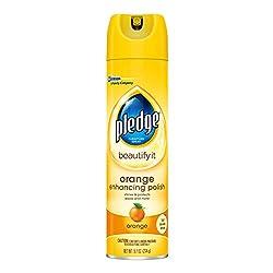 Pledge Orange Enhancing Polish, 9.7 Ounce