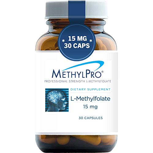 MethylPro 15mg L-Methylfolate (30 Capsules) - Professional Strength Active Methyl Folate, 5-MTHF Supplement for Mood, Homocysteine Methylation + Immune Support, Non-GMO + Gluten-Free with No Fillers