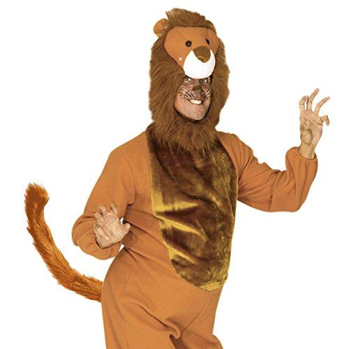 Amakando Que Lion en Peluche Brun Bande félin Dessin animé à Modeller Lion King Animal soirée Accessoire Carnaval