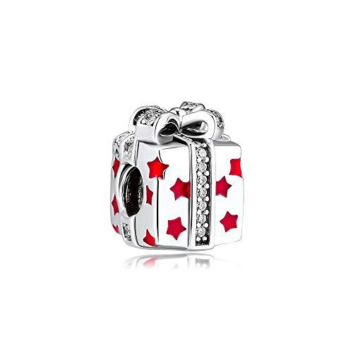 LISHOU Se Adapta A La Pulsera Pandora Argent Charm 925 Sterling Silver Jewelry Box Charms Beads para DIY Women Jewelry Making