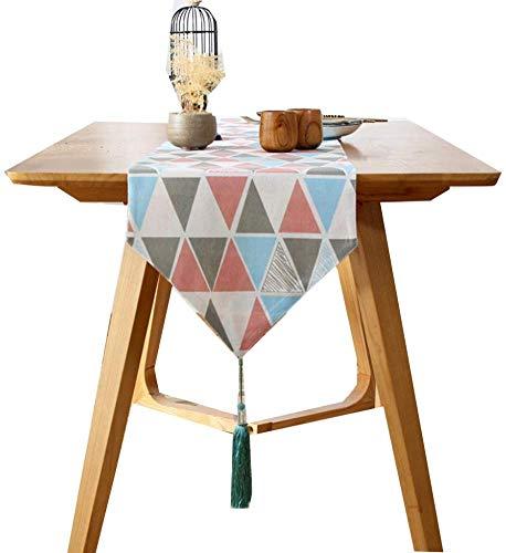 WYJW tafelloper, strakke minimalistische tafelloper, geruit, salontafel bed vlag, een verscheidenheid aan maten om uit te kiezen,33 * 160cm