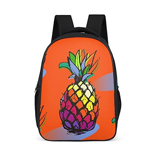Mochila escolar unisex para niños con fruta, naranja, arco iris, piña, mochila escolar, mochila de viaje, mochila para bebés, niños y niñas