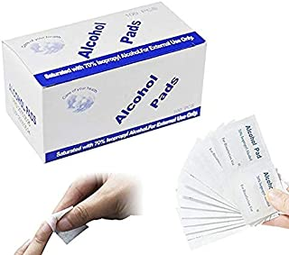 Alcohol Prep Pads,Aolvo Alcohol Wipes Individually Wrapped,Ideal for Cleaning, Sterilizing Skin,Small Wounds,Electronics,L...