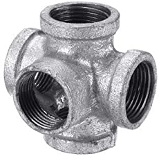 """1/2"""" 3/4"""" 1"""" 5 Way Pipe Fitting Malleable Iron Galvanized Outlet Cross Female Tube Connector - Tools, Industrial & Scientific Hardware & Accessories - (1/2 Inch) - 1 x Outlet Cross Pipe Fitting"""