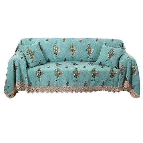 HAODEE Fundas de Sofa Resistente al Agua Cubresofa Sillón de la Cubierta Sofás Cubre Sofá Cubierta de Asiento Cubierta de sofá elástico Elástico sofá Cubre 180X240,Green