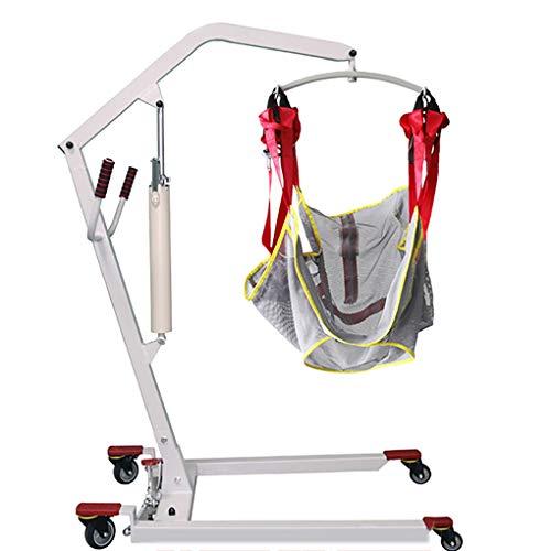 YXP Hydraulischer Patientenkörperlift mit Verstellbarer Basis und Patientenkörperschlaufe Weiß, 450 lb. Gewichtskapazität für ältere Menschen mit Behinderung