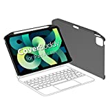 SwitchEasy CoverBuddy [2020 Upgrade] Backplate Protection Case for iPad Air 4 10.9 inch, Compatible with Magic Keyboard, Smart Folio, with Pencil Holder [Support Apple Pencil Charging] - Grey