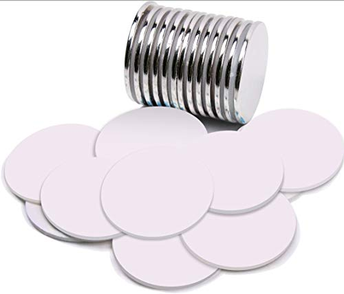 FEYG Magneti Adesivi,Calamita Autoadesiva,Calamite Adesive,32 x 3 mm Potenti Magneti Neodimio per Lavagna Magneti per Frigorifero