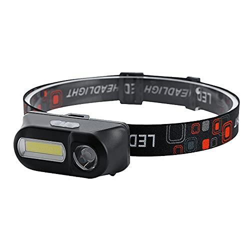 QQWJSH Faros Delanteros LED ultraligeros, Impermeables, de Doble Sensor, Recargables, baterías de Litio reemplazables, Mantenimiento al Aire Libre, Pesca Nocturna