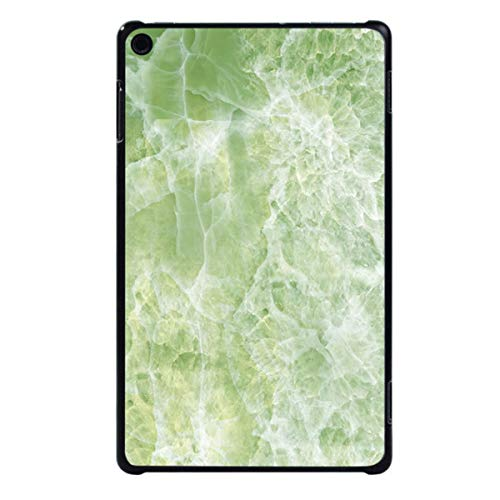 for Amazon Fire HD 8 (6th/7th/8th Gen, 2016 2017 2018 Release) -Tablet PC Plastic Marble Pattern Slim Stand Case Cover,Jade Green Marble