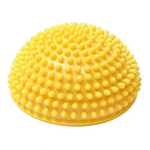 PPKZY Half-Ball Muscle Foot Cuerpo Ejercicio Estrés Liberación Fitness Yoga Masaje Bola Salud Yoga Formación Accesorios - 1pc (Color : Yellow)