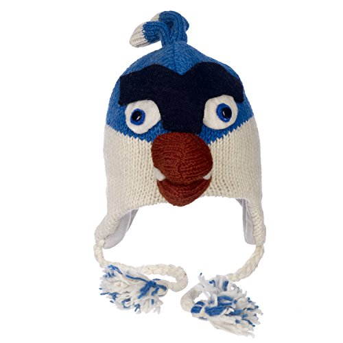 Fair Trade Tiermützen Blau Angry Bird