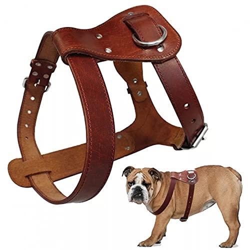 Arnés para Perros Arnés para Perros Perros Marrones Chaleco Entrenamiento para Caminar Correas Ajustables Mediano Grande Boxer Mastín Regalo para Mascotas-M,Medium
