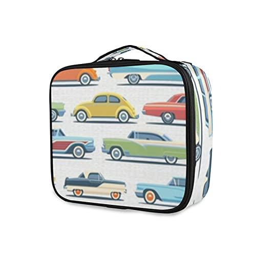 Bolso cosmético blanco de los coches de la señora del bolso del viaje de la muchacha grande del cosm