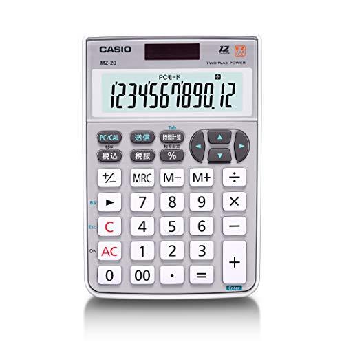 カシオテンキー電卓ミニジャストタイプ12桁MZ-20SR-N
