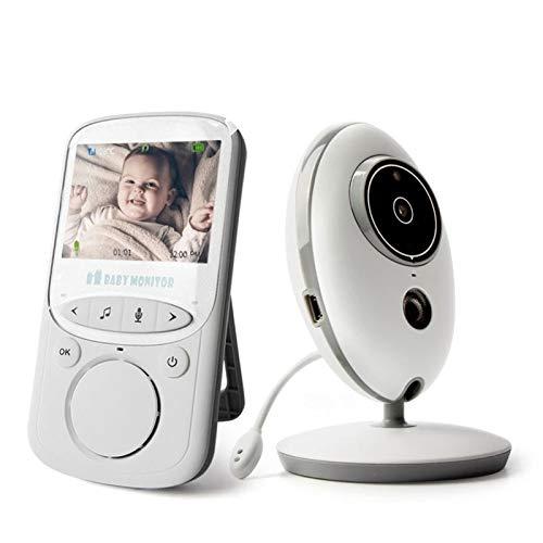 HKD Vigilabebés con Cámara 2.4' LCD Comunicación Bidireccional Inalambrico Vigilabebés Intercomunicador con Modo VOX, Sensor Temperatura