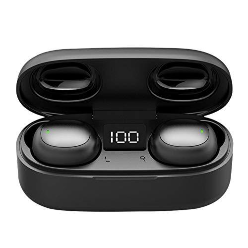 Bluetooth oortelefoon V5.0, in-ear bluetooth hoofdtelefoon TWS mini-stereo headset met 3000 mAh laadkast microfoon power-display type C-aansluiting draadloze koptelefoon voor iPhone iPad Samsung Huawei Tablet