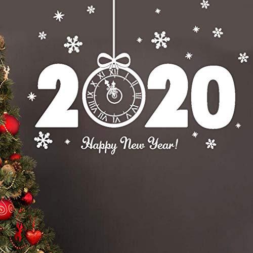 FossenHyC Pegatinas Navidad Escaparate Pared Decorativas - Pegatina Navideñas Estrellas para Ventanas 3D de Santa, Copo de nieve - Etiqueta de la Pared Decoración del Hogar Coche Familia