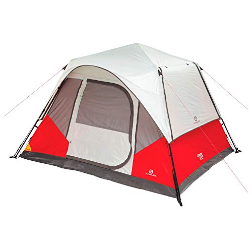 Outbound 6-Person Tent | Instant Pop up Tent for Camping with Carry Bag and Rainfly | Perfect for Backpacking or The Beach | Cabin Tent, Red