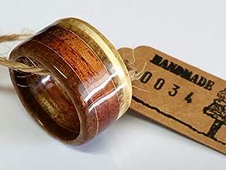 Upcycling Holzring aus echten Zigarrenkisten Breite ca.: 14 mm versiegelt, Ringgröße 48 bis 74