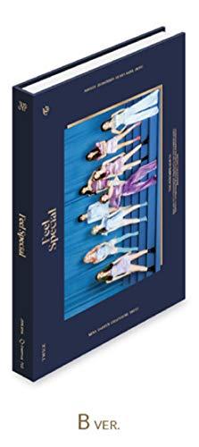 トゥワイス - Feel Special [B ver.] (8th Mini Album) CD+88ページフォトブック+リリックスペーパー+フォトカード5枚+ゴールドフォトカード1枚+Folded Poster [KPOP MARKET特典: 追加特典両面フォトカードセット] [韓国盤]