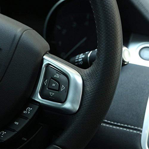 Accessoires de châssis pour Cadre de Volant de Direction en ABS pour Voiture pour RR Evoque 2012-2018 Argent Mat