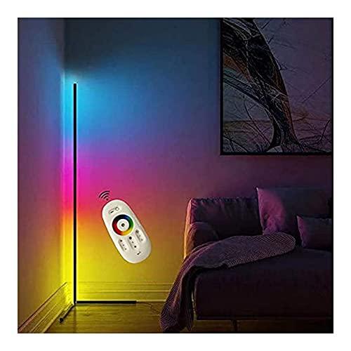 Lámparas de pie, Moderno minimalista LED de la esquina de la esquina de la lámpara de la esquina RGB Cambiante de pie Lámpara de pie suave Iluminación Inicio Minimalismo Ambiente cálido para sala de e