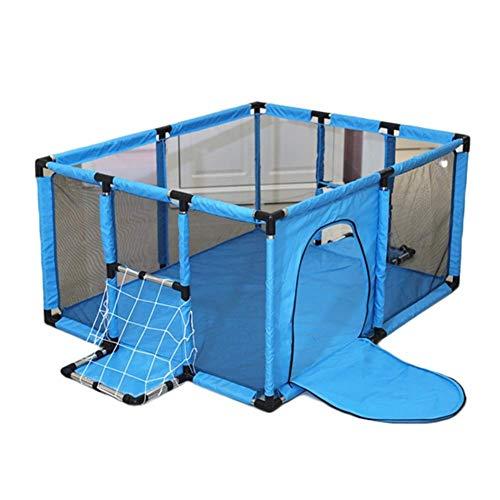 LRZLZY Juego Plegable del bebé Valla Valla de reproducción portátil de los niños Durante el Disparo de Seguridad for Niños Cerca Cerca Océano Pelota de tamaño Opcional Azul (Size : 120x100x62cm)