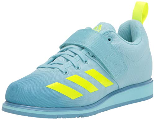 adidas Women's Powerlift 4 Cross Trainer, Hazy Sky/Solar Yellow/Hazy Blue, 11