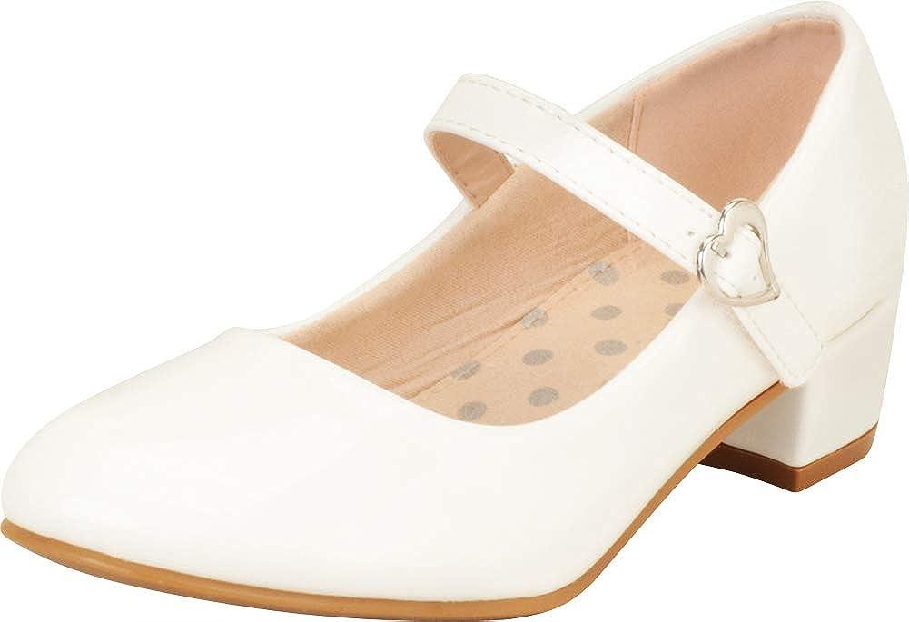 Cambridge Select Girls' Round Toe Chunky Block Low Heel Mary Jane (Toddler/Little Kid/Big Kid)