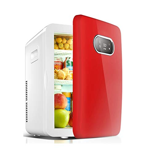 Nexos Retro koelkast auto thuis dual use-mini-slaapzaal kantoorhuur met kleine vrieskast, 36 x 30 x 42 cm, gekoeld XMJ