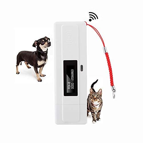 Tosuny Haustier Mikrochip Scanner, Pet Chip Lesegerät, 134,2 kHz, USB RFID Scanner, OLED Bildschirm mit hoher Helligkeit, unterstützt FDX-B (ISO11784 / 85) und EMID-Mikrochips