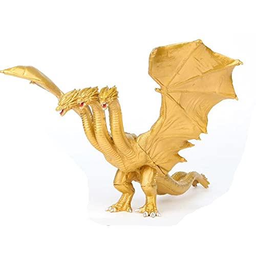 Godzilla King Ghidorah Colección modelo Figura de acción Decoración de la decoración de la colección de PVC Monster Toy Regalos de cumpleaños de los niños Regalos de graduación18cm