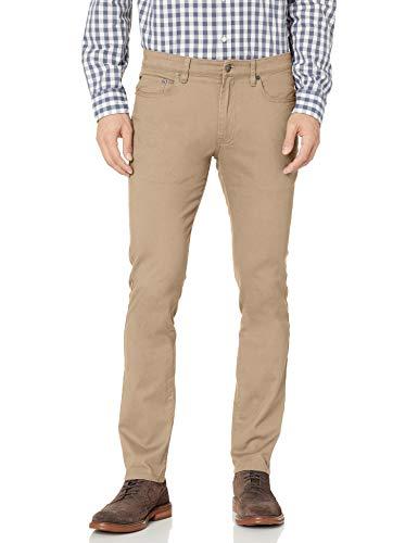 Amazon Essentials Skinny-Fit 5-Pocket Stretch Twill Pant Pantaloni Casual, Cachi, 30W / 32L