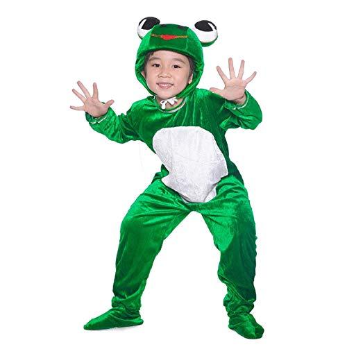 LOLANTA Deluxe Kind Unisex Froschprinz Tier Kostüme für Kinder Schule Spielen Party befestigen Schuhabdeckung (128/134) (HerstellerGrosse - 130)