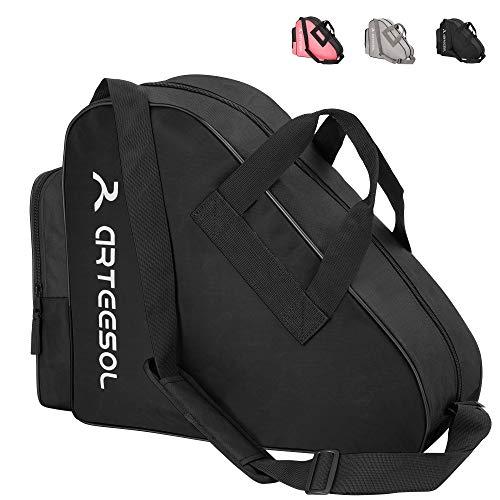 arteesol Rollschuhe Tasche, Inliner Tasche, Schlittschuhe Tasche, Skatertasche für Kinder/Erwachsene(Anthrazit Schwarz)