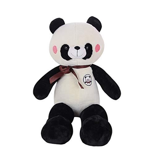 HUOQILIN Panda Poupée Peluche Gros Bébé Ours Poupée Oreiller Cadeau d'anniversaire Le Jour des Enfants De Poupée for Envoyer des Filles (Color : Black, Size : 140cm)